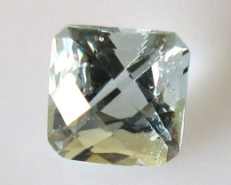 1.46cts Natural Aquamarine Square Emerald Cut Checker Board