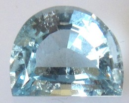 1.90cts Natural Aquamarine Half Moon Cut