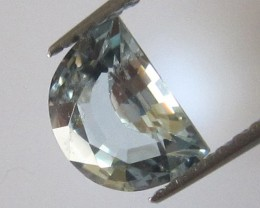 0.75cts Natural Aquamarine Half Moon Cut