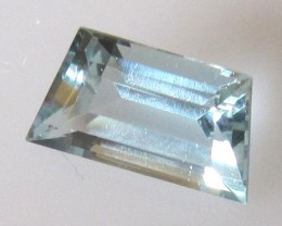 1.12cts Natural Aquamarine Trapezoid Cut