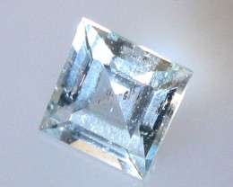 0.70cts Natural Aquamarine Square Cut