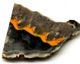 96.2CTS BUMBLE  BEE JASPER ROUGH SLAB -INDONESIA [F5706 ]