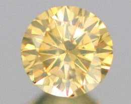 0.27Ct VS1 Clarity UNTREATED Fancy SPARKLING YELLOW Color Natural Diamond