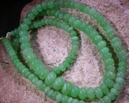 79.4 CTS MM CHRYSOPRASE BEADS [MGW4629]