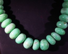 398 CTS  CHRYSOPRASE BEADS [MGW4631]