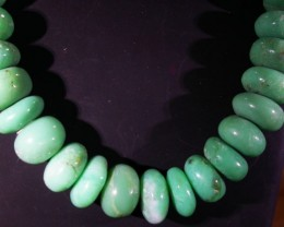 445 CTS CHRYSOPRASE BEADS [MGW4632]