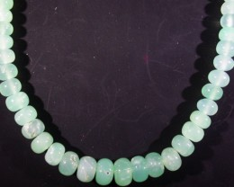 91 CTS 6 MM CHRYSOPRASE BEADS [MGW4636]