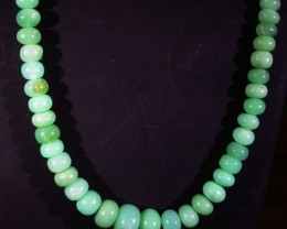 98 CTS 9 MM CHRYSOPRASE BEADS [MGW4639]