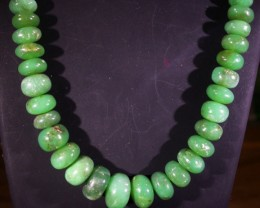 189 CTS 11 MM CHRYSOPRASE BEADS [MGW4641]