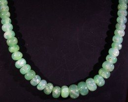 90 CTS 7x4 MM CHRYSOPRASE BEADS [MGW4647]