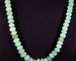 79 CTS 5 MM CHRYSOPRASE BEADS [MGW4643]