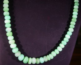 87 CTS 7 MM CHRYSOPRASE BEADS [MGW4644]