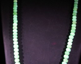 88 CTS 7 MM CHRYSOPRASE BEADS [MGW4645]
