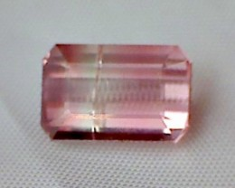 Pastel Pink and Soft Green Bi-Color Tourmaline VVS THM12a