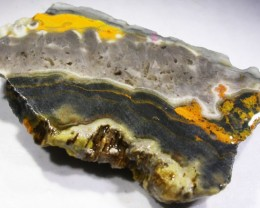 121.9 CTS BUMBLE  BEE JASPER ROUGH SLAB -INDONESIA [F5841]