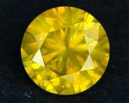 0.48ct Brilliant Fancy VS1 Round Cut FANCY YELLOW Natural DIAMOND