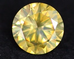 0.27Ct VVS Clarity Natural UNTREATED SPARKLING YELLOW Color Natural Diamond