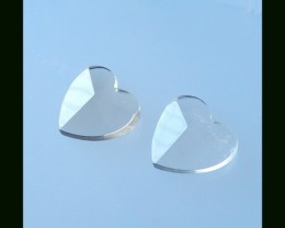 Lastest Fashion ,Faceted Smoky Quartz Heart ShaPE CAB Pair, 24x25x8 MM