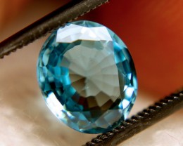 2.5 Carat VVS Blue Southeast Asian Zircon - Beautiful