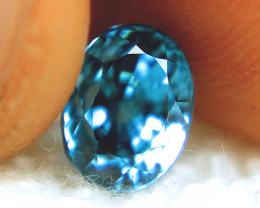 4.98 Carat IF/VVS1 Blue Southeast Asian Zircon - Superb