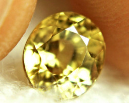 3.97 Carat Golden Yellow VVS1 Zircon