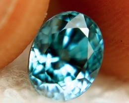 3.50 Carat VVS Vivid Blue Zircon - Superb