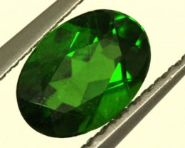1.0 CTS LUSTEROUS RICH FOREST GREEN OVAL CHROME DIOPSIDE SP22