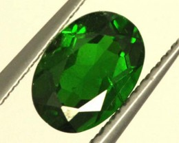 1 CTS LUSTEROUS RICH FOREST GREEN OVAL CHROME DIOPSIDE SP24