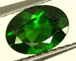 1 CTS LUSTEROUS RICH FOREST GREEN OVAL CHROME DIOPSIDE SP25