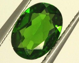 1 CTS LUSTEROUS RICH FOREST GREEN OVAL CHROME DIOPSIDE SP26