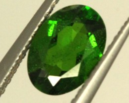 1 CTS LUSTEROUS RICH FOREST GREEN OVAL CHROME DIOPSIDE SP27