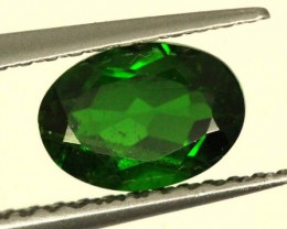 1 CTS LUSTEROUS RICH FOREST GREEN OVAL CHROME DIOPSIDE SP28
