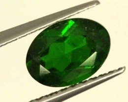 1 CTS LUSTEROUS RICH FOREST GREEN OVAL CHROME DIOPSIDE SP29