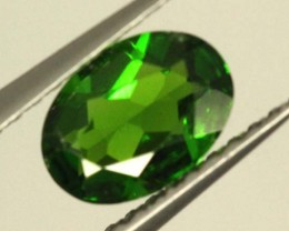 1 CTS LUSTEROUS RICH FOREST GREEN OVAL CHROME DIOPSIDE SP30