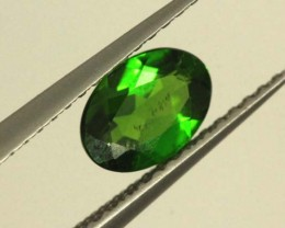 1 CTS LUSTEROUS RICH FOREST GREEN OVAL CHROME DIOPSIDE SP32