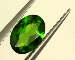 1 CTS LUSTEROUS RICH FOREST GREEN OVAL CHROME DIOPSIDE SP33