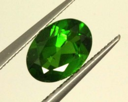 1 CTS LUSTEROUS RICH FOREST GREEN OVAL CHROME DIOPSIDE SP34