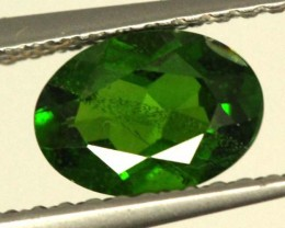 1 CTS LUSTEROUS RICH FOREST GREEN OVAL CHROME DIOPSIDE SP37