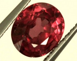 BRIGHT ORANGE RED RHODOLITE GARNET 1 CTS  SP40