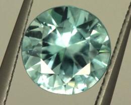 2.5 BLUE BRILLIANT CUT ZIRCON VVS SP57 F63