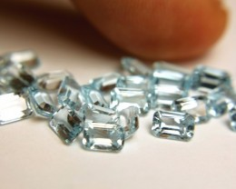 19.89 Tcw. Blue VVS/VS Topaz Accents - 30 Pcs.