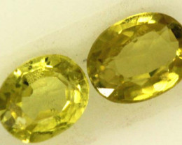 0.45 CTS LOVELY GREENISH YELLOW CHRYSOBERYL PAIR VVS SP88
