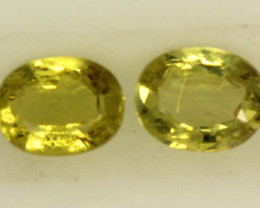 0.45 CTS LOVELY GREENISH YELLOW CHRYSOBERYL PAIR VVS SP90