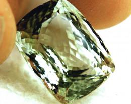 CERTIFIED - 15.69 Carat IF/VVS1 Green Brazilian Beryl