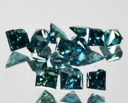 0.26 Cts Natural Blue Diamond 1.75 mm Princess Cut 12PCs AFrica 1$ NR