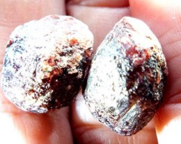 GARNET ROUGH NATURAL 2 PC 42.45  CTS LG-826