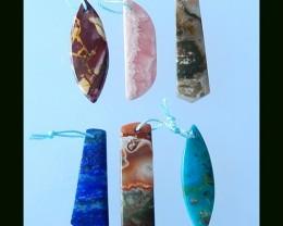 Natural Rhodochrosite,Lapis, Opal ,Jasper Beads Parcel
