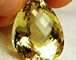 91.46 Carat IF/VVS1 Natural Brazil Lemon Quartz - Superb