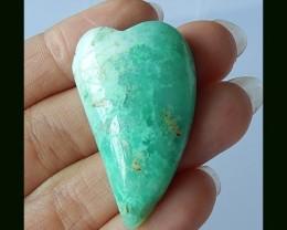 Natural Chrysoprase Heart Gemstone, 40X25X10 mm