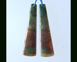 New Arrival African Red Agate Earring Bead,48x12x4 MM